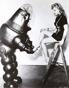 Robot holding foot