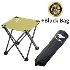 Folding C&ing Stool Portable Chair for C&ing Fishing Hiking Gardening and Beach Green Yellow Seat with Black Bag (1 Piece)  sc 1 st  Pinterest & Portable Walking Chair (Cane / Stool) from The Stadium Chair Com ...