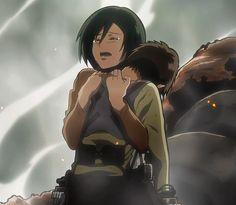 Attack on Titan Mikasa and Eren moment Attack On Titan Eren, Attack On Titan Ships, Attack On Titan Fanart, Mikasa X Eren, Attack On Titan Aesthetic, Sanji One Piece, Eremika, Sarada Uchiha, Anime Ships