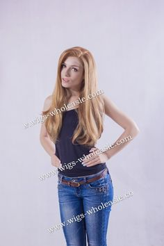 Best Sale Straight Honey blonde Long   Lace Front Synthetic Wig Halloween Christmas gift