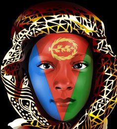 Eritrean Face With The Eritrean Flag: Mohammed AbdulSalam.