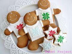 Sweet Project: Świąteczne pierniki i lukier królewski - przepis Gingerbread Cookies, Christmas Cookies, Christmas Time, Food And Drink, Christmas Decorations, Eat, Projects, Cook Cook, Pretty