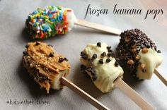 Frozen Banana Pops #kidsinthekitchen cooking with kids