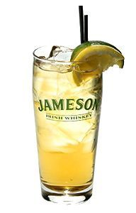 Irish Ginger Ale: As simple as it is delicious, this highball consists of Irish whiskey and ginger ale with a splash of lime juice and a lime wedge for a garnish.