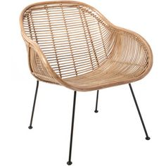 Out There Interiors Rattan Scoop Armchair In Natural
