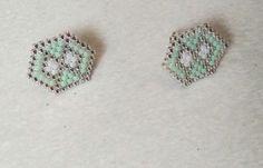 Boucles d'oreilles puces AURORE perles miyuki