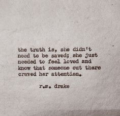 ... she didn't need to be saved...