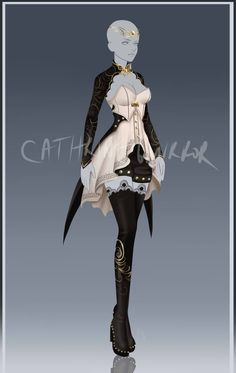 (closed) Outfit Adopt 665 by CherrysDesigns on DeviantArt Anime Outfits, Mode Outfits, Girl Outfits, Clothing Sketches, Dress Sketches, Dress Drawing, Drawing Clothes, Fashion Design Drawings, Fashion Sketches
