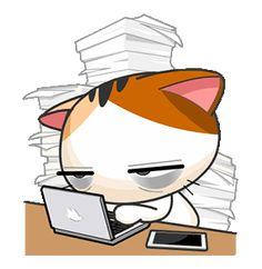 Gojill The Meow Animated Cute Love Gif, Cute Cat Gif, Yoga Cartoon, Gato Calico, Cute Cat Illustration, Dibujos Cute, Kawaii Cat, Cute Memes, Cat Stickers