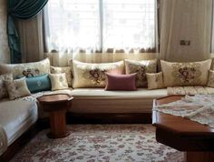 Apartment Decor, Living Room, Home, Interior, Sectional Couch, Moroccan Living Room, Home Deco, Home Decor, Room