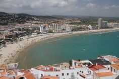 Peniscola, Spain. The view north from the castle