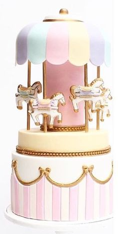 Amazing carousel cake by Cuppy & Cake ♥