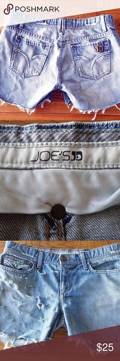 Joe's Jeans Frayed Cut Off Jean Shorts RN#106214 Joe's Jeans Frayed Cut Off Jean Shorts RN#106214  * Medium Wash * Size 29 * Good condition * 100% Cotton * Exposed pockets Joe's Jeans Shorts Jean Shorts