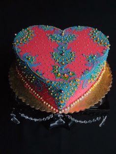 Indian Cake, Indian Wedding Cakes, Indian Weddings, Jasmine Cake, Jasmine Party, Pretty Cakes, Beautiful Cakes, Amazing Cakes, Best Valentine's Day Gifts