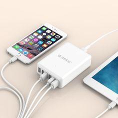 [$17.72] ORICO DCAP-6S-V1 6 Ports  5V / 2.4A Desktop USB Charger for Smartphones, Tablets, Power Banks  EU Plug(White)