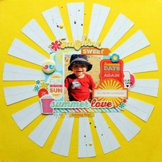 Scrapbook with a Burst of Sunshine | Cool DIY Scrapbook Ideas You Have To Try