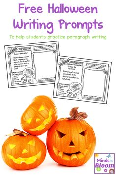 Free Halloween Writing Prompts Halloween is such an exciting time of year for kids with the stories trick-or-treating and costumes. While it can be hard to manage their excitement over this spooky holiday in the classroom it can be even harder to keep th Halloween Writing Prompts, Writing Prompts For Writers, Picture Writing Prompts, Paragraph Writing, Teaching Writing, Writing Activities, Teaching Ideas, Best Halloween Candy, Teacher Halloween Costumes