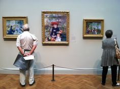 Visiting Renoir at the Art Institute of Chicago.