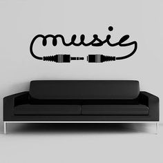 Wall Decal Vinyl Sticker Decals Art Decor Design Sign Music Song Sound Notes Melody Jazz Rap Hip Hop Living Room Dorm from CreativeWallDecals on Etsy. Vinyl Wall Decals, Wall Stickers, Sticker Vinyl, Music Bedroom, Music Rooms, Bedroom Art, Band Rooms, Music Studio Room, Art Decor