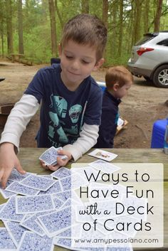 Nothing says classic summer fun like card games. Learn more than 20 different ways to have fun with just a simple deck of cards! The next activity in our throwback summer activities for kids | Summer Fun | Games for Kids | Kids Activities |