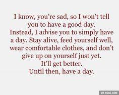 I know, you're sad..