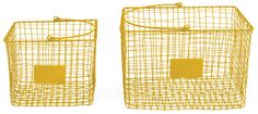 wire baskets - set of 2