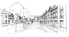 A streetscape test drawing