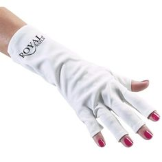 ROYAL NAILS ANTI UV GLOVES FOR UV LIGHT/LAMP NAIL DRYER ONLY NAIL EXPOSED