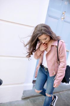 The Primark Jacket I Am Officially Obsessed With & A Bit Of A Ramble… – Dizzybrunette Pink Primark Suede Jacket Biker Jacket Outfit, Pink Bomber Jacket, Leather Jacket Outfits, Pink Suede Jacket, Pink Jacket, Casual Outfits, Cute Outfits, Fashion Outfits, Lazy Day Outfits