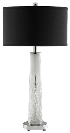 Elsa Glass Table Lamp in White | Stein World Furniture | Home Gallery Stores