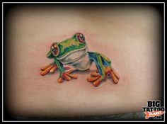 Tree frog tatoo too cute