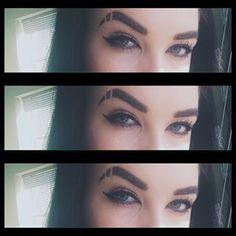 As does this lovely lady, who looks fucking gorgeous. | People Are Shaving Slits Into Their Eyebrows And It Looks Incredible