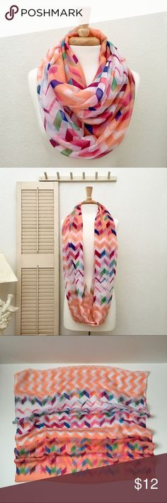 NWT Colorful Geometric Print Infinity Scarf Additional details and measurements to come soon😊 Accessories Scarves & Wraps