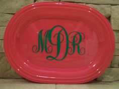 Popular platter colors have been restocked! These make great shower and hostess gifts!    Personalized Platter - Design Your Own - Personalized Hostess Gift / Shower Gift. $20.00, via Etsy.