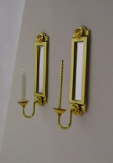 Miniature Dreamworld: Finished wall sconces