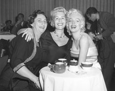 1956  (L To R) Sybil Brand, Sheilah Graham And Marilyn Monroe At Ciro's