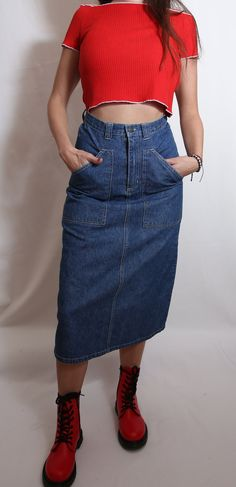 #minimalist #vegan #denim #skirt #jeans #feminist #urban #streetstyle #sustainable #fashion #etsy #vintage #simple #classic #rare #ootd #fashion #models #woman Ootd Fashion, Urban Fashion, Fashion Models, Denim Belt, Denim Skirt, High Waist Jeans, High Waisted Skirt, Tartan Pants, Oversized Jeans