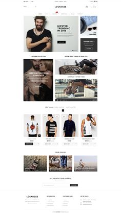 Buy Logancee - Mutilpurpose eCommerce PSD Template by LoganCee on ThemeForest. Logancee is evaluated as my most unique multi-purpose ecommerce PSD template for shop online with clean and modern de. Ecommerce Web Design, Ecommerce Template, Wordpress Theme Design, Psd Templates, Website Layout, Web Layout, Layout Design, Design Ideas, Site Design