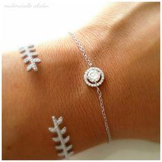 Bracelet par Mademoiselle Celadon  #DifferenceMakeUs #Bijoux #Bracelet #Mariage #Wedding #Love @etsy