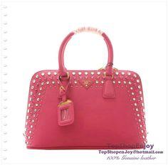 Fashion New Prada Saffiano Leather Two-Handle Bag with Spring Hinge Closure  BL865B Rose -  256.00   handbags-show.com 4246a3e44e3ae