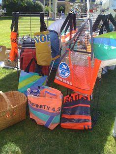 Bags from windsurf sails Gloucestershire Resource Centre http://www.grcltd.org/ideas-inspiration-educatio/
