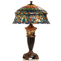 """27"""" Annelise Double-Lit Stained Glass Table Lamp ShopNBC.com"""