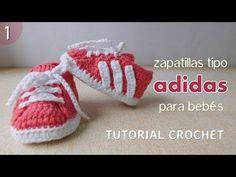 DIY Como tejer escarpines, zapatitos, zapatillas, patucos para bebe a crochet, ganchillo (1/2) - YouTube