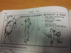 Dressing a rabbit without a knife.