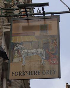 Pub Sign Art a la cARTe: The Yorkshire Grey, Langham Street, London, W1