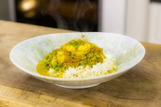 This Monkfish and Coconut Curry from top chef Tom Kerridge is very simple, quick and easy to do. Fabulous, healthy food that is ready in no time at all! Mint Recipes, Chef Recipes, Curry Recipes, Seafood Recipes, Indian Food Recipes, Asian Recipes, Vegetarian Recipes, Cooking Recipes, Healthy Recipes