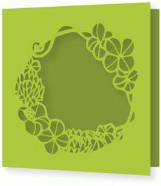 #40610: flourish decoration round frame single fold square card
