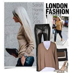 """Sarah Harris - London Fashion Week 2015"" by emavera on Polyvore"