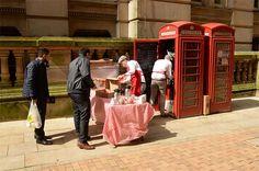 Photos: Man turns classic British phone booth into tiny coffee shop