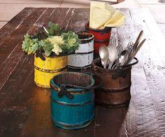 Vintage buckets - Blue